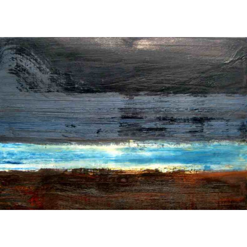 Grey Blue Umber Seascape