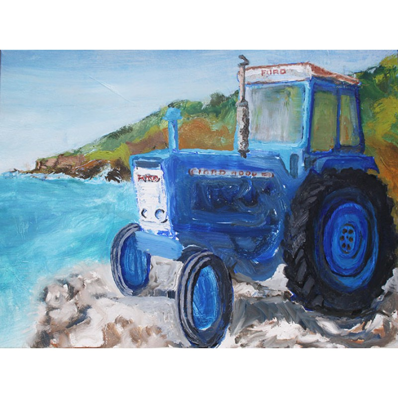 Ford 4000 And The Maine Port Gaverne