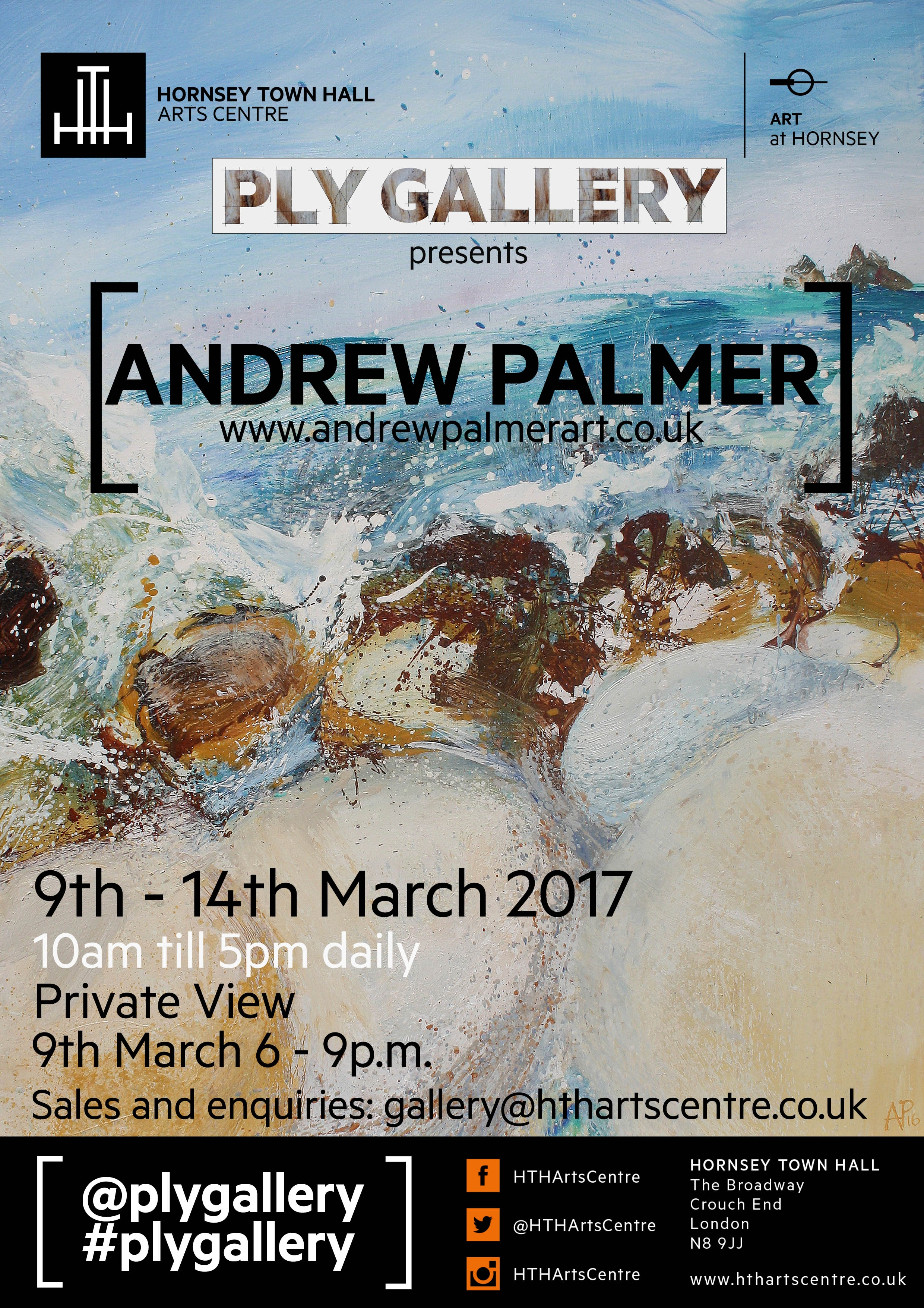 Andrew Palmer @ Ply Gallery March 9-14 2017
